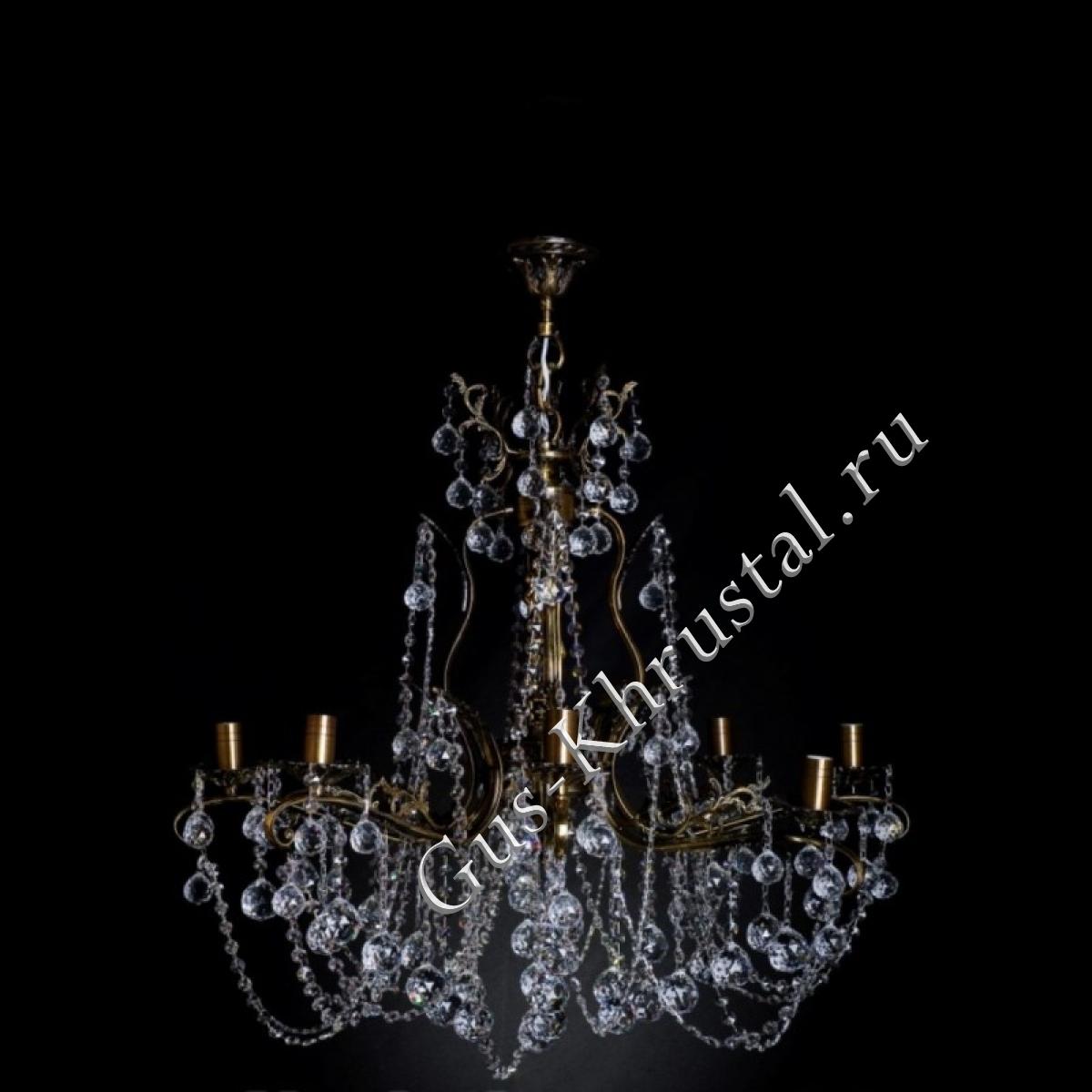 Люстра бронзовая № 1 (8 ламп)