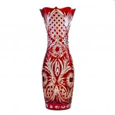 Ваза Хрустальная Для Цветов Натали рубиновая
